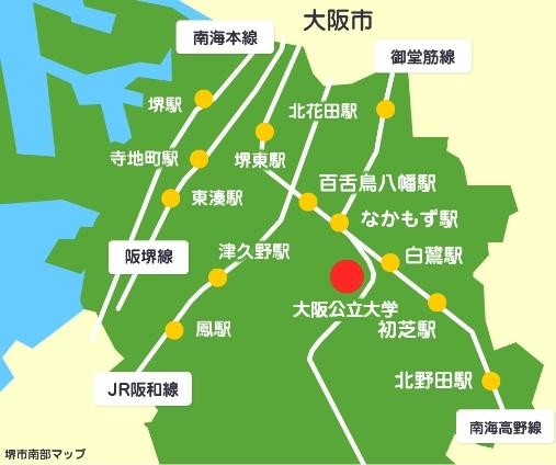 大阪府南部の賃貸物件情報マップ